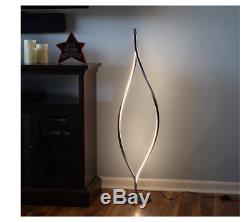 Floor Lamp Light Pole Modern Style Home Decor Led Black Contemporary w Switch