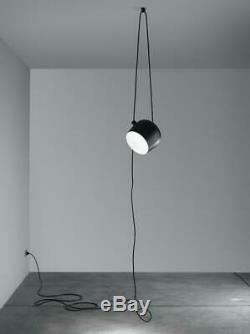 Flos F0097330 Aim Cable + Plug Small LED Pendant with Dimmer Switch in Black