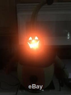 Folk Art Jack O Lantern Pumpkin Gourd Doll With Dimmer Light Switch