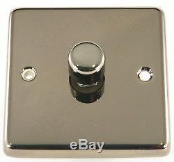 G&H Steel, Chrome, Brass, Bronze 1 2 3 4 Gang V-Pro LED Dimmer Light Switches