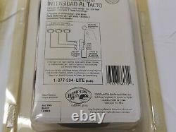 HAMPTON BAY TRI-LEVEL TOUCH DIMMER SWITCH 363 999 black. 3 accent lights 148 407