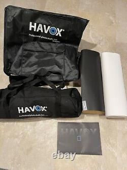 Havox HPB-40XD Photo Studio Light Box with 4 LED bars & dimmer switch, 16x16x16