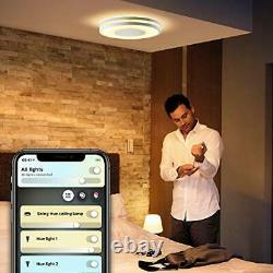 Hue Being White Ambience Smart Ceiling Light LED with Bluetooth, Dimmer Switch