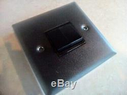 Joblot 100x Matt Black Double Dimmers and Double Light Switches, New Wholesale