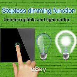 KONOQ Glass Touch LED Light SwitchGOLD WIFI via BROADLINK DIMMER 1GANG/1WAY