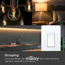 Kasa Smart Dimmer Switch by TP-Link, Single Pole, Needs Neutral Wire, WiFi Light