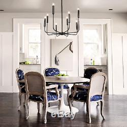 LALUZ 8-Light Rust Kitchen Island Chandelier Pendant with Dimmer Support Switch