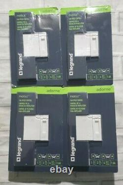 LOT OF 4 Legrand Adorne Paddle Dimmer White 450W Single Pole 3way ADPD453LW2