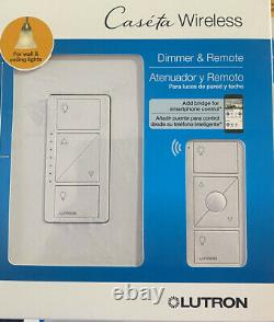 LOT OF 5 Lutron Caseta Wireless Smart Light Dimmer Switch +Remote (P-PKG1W-WH-R)