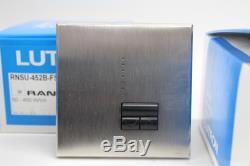 LUTRON RNSU-452B-FSN-M Brushed Chrome Dimmer Light Switch Control 450W 3x BNIB