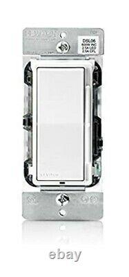 Leviton DSL06-3PW Universal Rocker Slide Dimmer 10 Piece, White/Light Almond