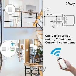 Light Switch Wireless Remote Control White Wifi Smart Dimmer Module 90-250V 150W
