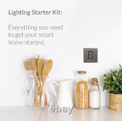 Lightwave LightwaveRF Smart Lighting Starter Kit Dimmer Switch Steel (L212)