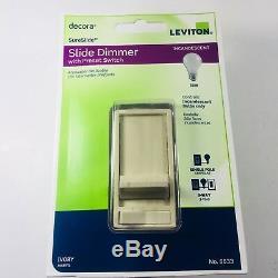 Lot Of 8 C31-6633-pli-ivory 3way 600w-120v Slide Dimmer Light With Preset Switch