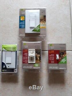 Lutron And Leviton Dimmer Light Switches Single Pole, Dual And Three Pole (20)pc