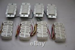 Lutron CM-L300FQ1 Canopy Module & MA-LFQ35 Fan/Wall Light Switch Combo WHITE