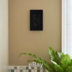 Lutron Caseta Electrical Lighting Tap Dimmer Switch Wireless Smart Black New