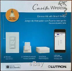 Lutron Caseta Wireless Smart Light Dimmer 2Switch Starter Kit FREE PRIORITY SHIP