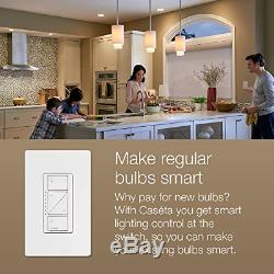 Lutron Caseta Wireless Smart Lighting 2 Dimmer Switch Starter Kit, with Alexa