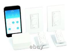 Lutron Caseta Wireless Smart Lighting Dimmer Switch (2 CT) Starter Kit Pedestals