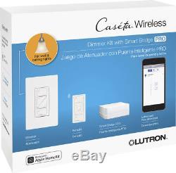 Lutron Caseta Wireless Smart Lighting Dimmer Switch (2-Pack) Starter Kit
