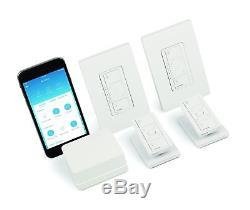 Lutron Caseta Wireless Smart Lighting Dimmer Switch (2 count) Starter Kit wit