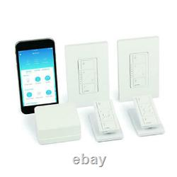 Lutron Caseta Wireless Smart Lighting Dimmer Switch (2 count) Starter Kit with