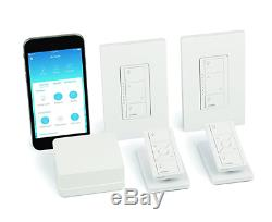 Lutron Caseta Wireless Smart Lighting Dimmer Switch (2 count) Starter Kit with p