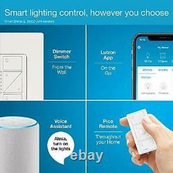 Lutron Caseta Wireless Smart Lighting Dimmer Switch and Remote Kit for Wall & Ce