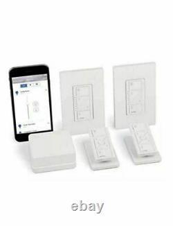 Lutron Caseta Wireless Smart Lighting In-Wall Dimmer Kit, HomeKit P-BDG-PKG2W