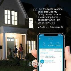 Lutron Caseta Wireless Smart Lighting Lamp Dimmer 2 count Starter Kit with pe