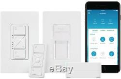 Lutron Caseta Wireless Smart Lighting Switch Pico Starter Kit Hardwired White
