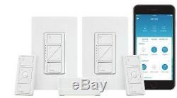 Lutron Caseta Wireless Smart Lighting Wall Dimmer Switch Starter Kit P-BDG-PKG