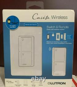 Lutron Caseta Wireless Switch & Remote for Light and Fans P-PKG1WS-WH (Lot of 3)
