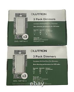 Lutron DVCL-153P-WH-3 Diva C. L Dimmer 2 Packs of 3! NEW