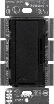 Lutron Dimmer Light Switch 600-Watt Programmable Fade Tap Control Midnight