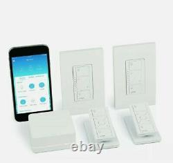Lutron P-BDG-PKG2W Caseta Wireless Smart Lighting In-Wall Dimmer Kit, HomeKit-en