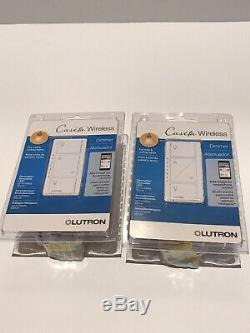 Lutron P-PKG1W-WH-R 120V Smart Lighting Dimmer Switch And Remote Kit