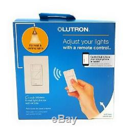 Lutron P-PKG1W-WH-R 120V Smart Lighting Dimmer Switch And Remote Kit Lot Of 4