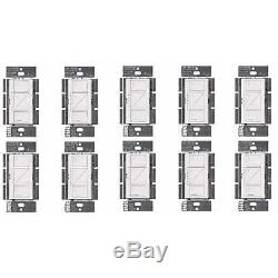 Lutron PD-6WCL-WH Caseta Wireless Smart Lighting Dimmer Switch White, 10-Pack