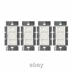 Lutron PD-6WCL-WH Caseta Wireless Smart Lighting Dimmer Switch, White (4 Pack)