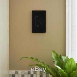Lutron Smart Lighting Dimmer Switch 3.3 Amp Programmable Tap Control Black