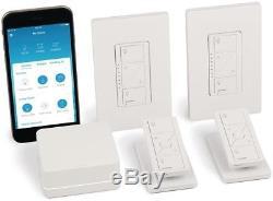 Lutron Wireless Lighting Dimmer Switch Starter Kit Caseta Smart Pedestals New