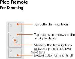 Lutron Wireless Smart Lighting Dimmer Switch Pico Wall-Mounting Starter Kit
