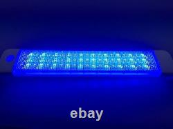 Marine Boat RV LED Courtesy Ceiling White/Blue Light Dimmer Touch Switch Surface