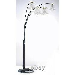 Milton Greens Stars A6966BK Silvia Adjustable Arc Floor Lamp With Dimmer Switch