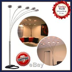 Modern Floor Lamps Tall For Living Room Lighting Adjustable With Dimmer Switch