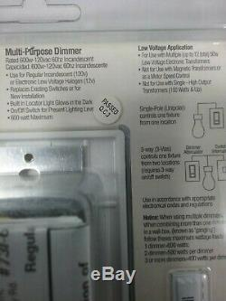 NEW Commercial Electric Multi-Purpose Dimmer Switch White Night Light 731-638
