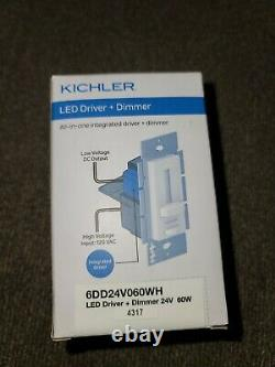 NEW Kichler Lighting 6DD24V060WH 24W 60W LED Driver with Dimmer