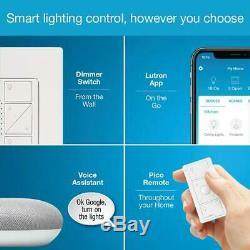 New Caseta Wireless Smart Lighting Dimmer Switch Starter Kit w Mini Chalk